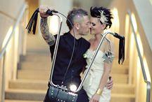 Alternative/Punk/Rock Themed Wedding / As a #nontraditionalweddingdj, I simply love weddings with a music-related theme!