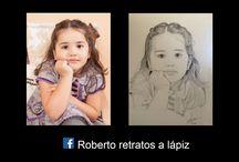 Roberto retratos a lapiz. / retrato a lapiz. caras.faces