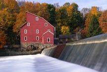 Covered Bridges and Old Mills / Covered bridges Old mills / by Kathy Goldenbogen