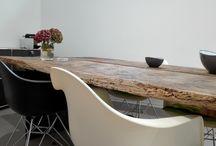 "Unikat-Tisch ""Royal trifft Stahl"" / Einzigartige Unikate aus Adels-Holz ""Blau- Blütiges Holz"""