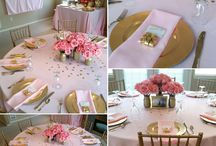 shower table setting