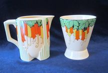 Art Deco Containers / The coolest, most colourful aspect of the Art Deco era - wild and original hand-painted china! / by Alison Reid