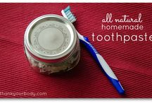 Homemade Goodness: Dental and Deodorant / DIY toothpaste and deodorant recipes / by Lisa @ Farm Fresh