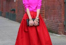 RED SKIRT INSPIRATION