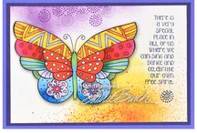 Laurel Burch Stamps by Stampendous / We are thrilled to announce our newest series of licensed images from Laurel Burch Studios. Laurel Burch created so many beloved and magical creatures, flowers and more that work perfectly to create pop up cards, home decor and greetings galore.