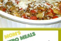 RETRO RECIPES / casserole recipes -- retro recipes -- meals like mom made -- vintage recipes -- easy casserole recipes -- lunch lady recipes