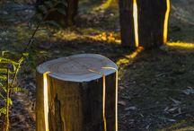 trädgård -ljus