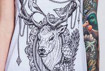Reindeer tattoo