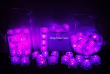 Pink LiteCubes 3 Mode Light Up Ice Cubes / Only the original LiteCubes brand! Our classic pink cubes feature 3 different modes! Fast flash, slow flash, and steady on. Clear shell with pink LEDs.