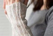 wool gloves, felt fingerless
