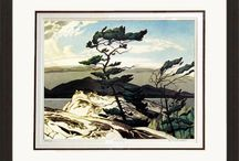 Group Of Seven - Canadian Artists / The Group of Seven was a group of Canadian landscape painters from 1920 to 1933. Originally consisting of Franklin Carmichael, Lawren Harris, A. Y. Jackson, Frank Johnston, Arthur Lismer, J. E. H. MacDonald, and Frederick Varley. A. J. Casson was invited to join in 1926; Edwin Holgate became a member in 1930; and LeMoine Fitzgerald (1890–1956) joined in 1932. To this day their artwork is highly sought after.