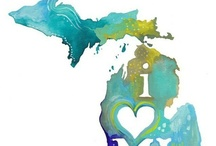 "Michigania / ""By the  shores of Gitche Gumee, by the shining-Big-Sea-Water""  Longfellow / by Kim Pike"