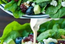 Delicious Salads / Recipes for delicious looking salads to try. Fruit and green salads