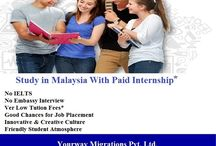 Study in Malaysia With Paid Internship !!!
