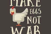 Make eggs not war