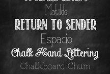 Fun Fonts / by Heather Lay (A Cupcake Love Affair)