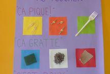 Activité : sensoriel  // assistante maternelle / Activités enfant Thème : sensoriel Montessori, Reggio, Steiner et Waldorf et autres pédagogies alternatives