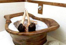 Ahşap banyo