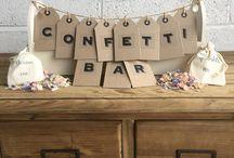   wedding confetti bar  