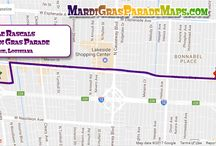 Mardi Gras Parade Maps