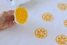 DECORACIÓ DE TELES / stencil, impressió, print t-shirt, tote bag, linoleum,