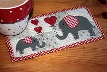 Sewing - tablecloth - Mug rug