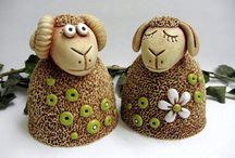 Ovečky z keramiky