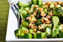 Salads tossed
