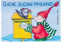 Postimerkkejä Suomesta - Joulumerkkejä