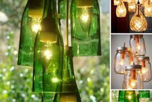 DIY {Wine bottles} / Re-use and UPcycle your favourite wine bottles into functional and decorative items.