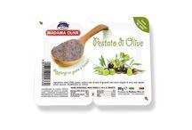 Linea Pestati / Prodotti spalmabili a base di olive di alta qualità e ortaggi freschi.