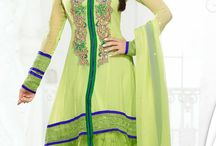 Amisha Patel Bollywood Salwar Suit / Beautiful Bollywood Style Anarkali with embroidery and patchwork