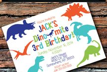 3rd Birthday Ideas / Dinosaurs all the way!!!