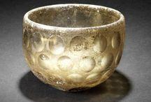 Sasanian art artifacts / Sasanian seal - Sasanian art - Sasanian silver vessel - Sasanian glass