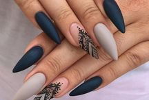 Nails / Mainly stiletto, acrylic nail love