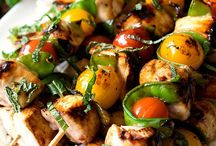 Krazy for Kebobs / Skewered food recipes of all kinds - savory and sweet! (Is it kabobs or kebobs?)