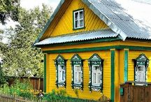 Уютные резные домики