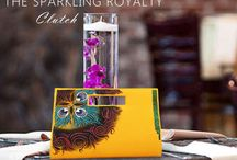 Clutches for the Wedding Season / Completing your look aesthetically is all about being exuberant. Glam up your look this wedding season with our exquisite range of hand painted clutches and get admired for the entirety of your array