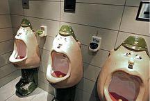 Łazienka zabawna, śmieszne łazienki / Wyposażenie łazienek, aranżacja łazienki, łazienka, w łazience, inspiracje, pomysł, projekt, baterie łazienkowe, ceramika łazienkowa, stelaż podtynkowy łazienkowy, deszczownica, Hansgrohe, Axor, Grohe, Kludi, Geberit, Huppe, Villeroy&Boch, Duravit, Roca