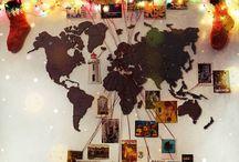Карты на стенах
