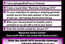 Wardrobe Challenge 2014 / Sponsored by Brother, Threads, Sew Stylish, It's Sew Easy, Wawak & Angela Wolf Designs.  Follow @AngelaWolfPins