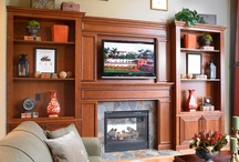 Entertainment Center Cabinetry / TV areas, entertainment centers & built-ins options available through Asheville Custom Cabinetry