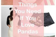 Panda's / Panda related stuff