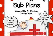 ~Classroom Sub plans