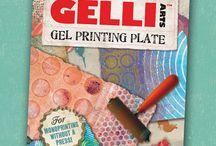 Gelli® Prints - Monoprinting / Inspiring prints using the Gelli Plate