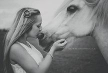 Horse and girl photography inspiration / Horse and girl photography inspiration
