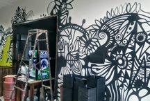 Fruto Verde Growshop 2 / Mural en Growshop y Cafeteria en #Talca