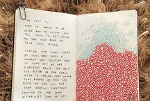 Artbook / Sketchbook mood board collage art diary