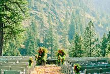 Mountain Escape Wedding ideas / Decorating ideas for your dream mountain escape wedding day.