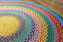 Handarbete/mattor / textil. handarbete, mattor